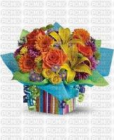 multicolore image encre bon anniversaire mariage rayures bleu violet jaune fleurs bouquet edited by me