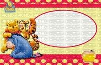 image encre couleur  anniversaire effet à pois Pooh Eeyore Disney  edited by me