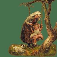grandmother and child enfant