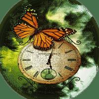 clock deco butterfly l'horloge papillon