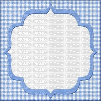 Vichy cadre bleu et blanc