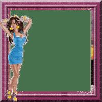 rfa créations - cadre violet et femme sexy