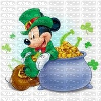 image encre texture effet St Patrick Mickey  Disney edited by me