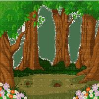 forest bg FRAME foret fond CADRE
