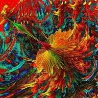 multicolore art image rose bleu jaune multicolored color kaléidoscope kaleidoscope effet encre edited by me