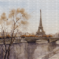 vintage paris landscape bg background - paintinglounge