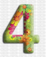 image encre numéro 4 fleurs bon anniversaire edited by me