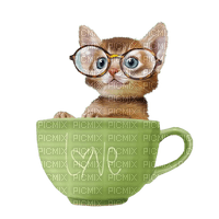 cat chat katze  spring printemps  deco  fun  summer ete  tube  sommer animal animals cup tasse green
