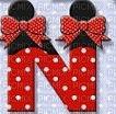 image encre lettre N Minnie Disney edited by me