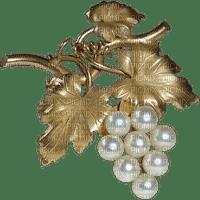 Perle de culture raisin/broche