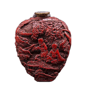 chinese asian red vase deco, sunshine3