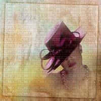 image encre couleur texture effet femme visage chapeau edited by me