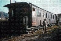 Un ancien train de voyageurs