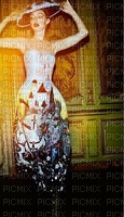 image encre femme fashion mode robe or blanc mariage noir ivk ink edited by me