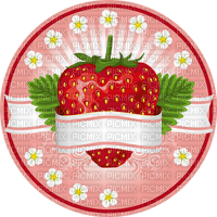 Strawberry Red White Flower Yellow Pink - Bogusia
