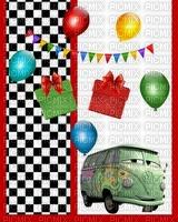 image encre bon anniversaire color effet ballons  voiture Disney edited by me