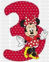 image encre bon anniversaire numéro 3  Minnie Disney edited by me