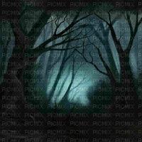 goth forest blue bg gothique forêt  bleu fond