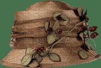hat-brown-leaf-flower
