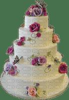 Beautiful Pink Rose Wedding Cake 5 Tier