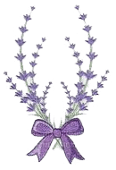 lavender flowers ornament
