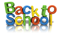back to school text colorful