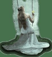 femme sur une balançoire