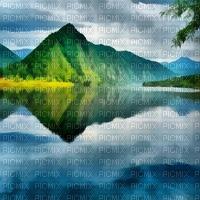 mountains montagnes berge water lake see eau lac  summer ete paysage landscape fond background