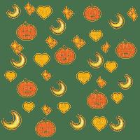Jack o lanterns and moons