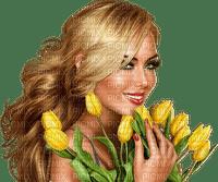 kvinna--woman--ansikte--face--flowers