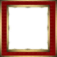 frame red and gold cadre rouge et or