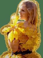 woman autumn dress femme automne feuilles robe
