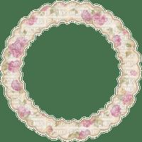 CIRCLE FLOWER FRAME VINTAGE