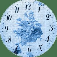 Clock-Parts, Clock-Face, Clocks, Deco, Decoration, Flower, Flowers, Blue - Jitter.Bug.Girl