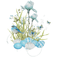 blue flowers deco birds butterfly bleu fleur printemps
