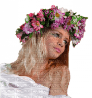 femme avec couronne de fleur