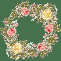 roses circle frame rose cercle cadre deco