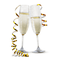 champagner glasses new year  deco champagner verre