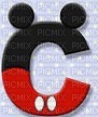 image encre lettre C Mickey Disney edited by me