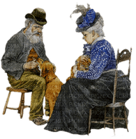 old couple paintinglounge