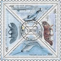 stamp post animals wildlife