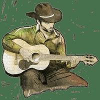 guitar cowboy man