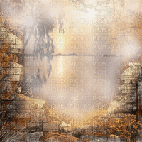 Automne  fond coucher de soleil autumn sunset transparent bg