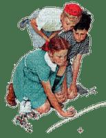 Vintage chidren playing marbles Joyful226