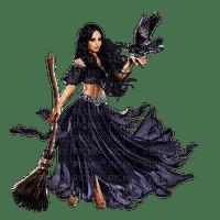 woman witch  raven femme noir corbeau
