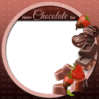 Frame Chocolate Strawberry Text  - Bogusia