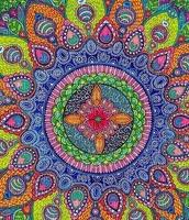 multicolore art image bleu rose jaune multicolored color kaléidoscope kaleidoscope