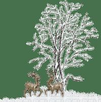 Reenders in the snow