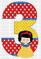 image encre numéro 3 bon anniversaire edited by me