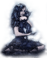 CHILD GIRL GOTHIC CAT FILLE ENFANT  GOTHIQUE CHAT
